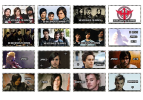 30 Seconds To Mars Stamps by SnowBlueWolf