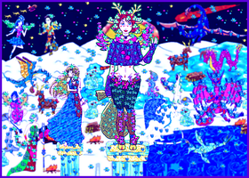Winter / Christmas (2012 Collabs) by God-of-All-Monsters