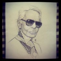 Illustration Karl Lagerfeld by Miss-JM