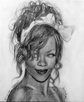 Rihanna small school drawing by MissRoxyMFC