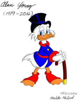 For Alan Young - Scrooge McDuck by ImmaComicGenius