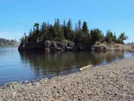 Split Rock Panorama by highlyimprobable