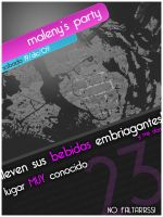 Flyer Maleny's party by Jaaffo