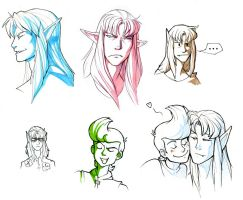 Ghaleon sketches by we-were-in-love