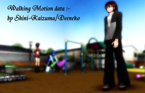 [MMD] Walking Motion data (DL!!) by Shini-Kaizuma