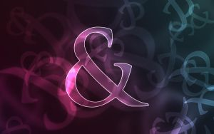 Ampersand Bokeh Wallpaper by kylebuhtuh