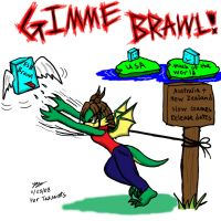 For Tazsaints: Gimme Brawl by Snowfyre