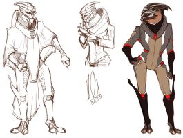 Outfit Sketches by ChaoticComposition