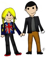 Rose Tyler and The Doctor by mwrnck