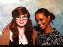 Myself and Freema Agyeman. by jesscoleman94