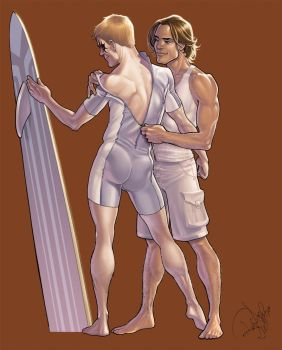 ShatterStar and Rictor by Arzeno