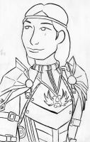 Aveline Bust Lineart by NyxieBlack