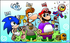 Sonic, Rayman and Mario! by MarkProductions