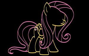 Fluttershy Silhouette by P0nies