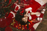 K-on! Mio Christmas Cosplay by Rubrum-Cervi
