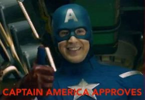 Captain America Approves by StarfallVulpixGirl