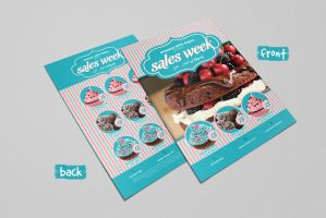 Sweet Shop Flyer by PrintDesign