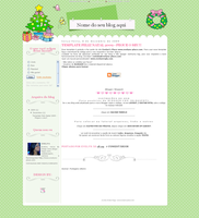 Natal Free Layout Blogger by EvelynRegly