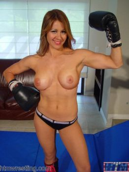 topless foxy boxing ariel vs nicole by hit the mat sexy