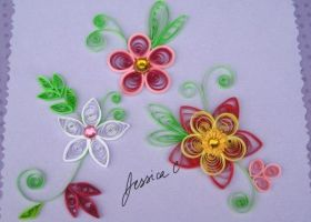 Quilling Flowers 5 by jchau