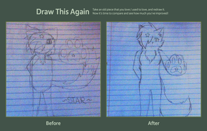 Draw this Again Challange:. Entry by StarBurnAva