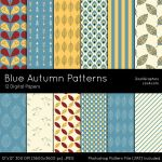 Blue Autumn Patterns by MysticEmma