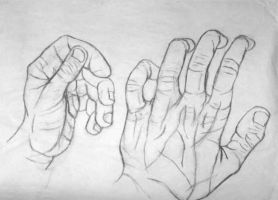 Hands contour by InfinitysEnd