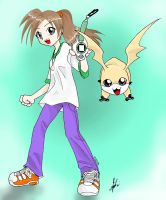 Riza N Patamon by Riza23