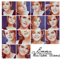 Emma Watson icons by FatButterfly