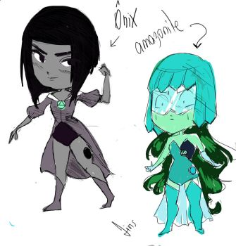 GEMSONAs: Onix and Amazonite by livia-lobo