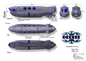 Submarine Deese-Class by Paul-Muad-Dib