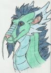 Dragon head: 3/4 view (Color) by eon54