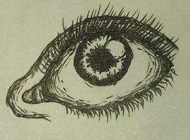 Eye (Pen) by SamanBrosefineIzzle