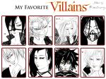 Favorite Villains by ConnieConnConn