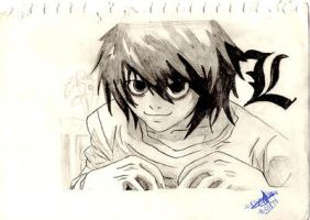 Lawliet drawed by WachiSanTV