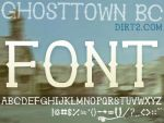 Ghostown BC Font NonCommercial by KeepWaiting