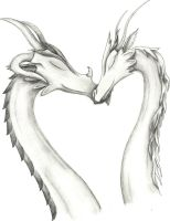 Dragon couple better pic by LunaMoon1995
