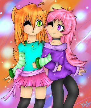 Martu and Carole (Chibi) by Nikkisses