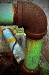 Rusted Green Pipe by PAlisauskas
