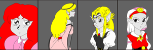 Request: Many faces of Zelda by Reyelene
