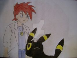 Gary and Umbreon by AJLeefan4life