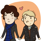 Johnlock Valentine by elothemelo