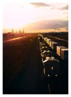 Union Pacific at Sunset by Dan52T