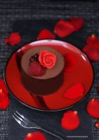 Single Serving Chocolate Fudge Cake by theresahelmer