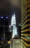 KLCC from the Crown Princess by moroka