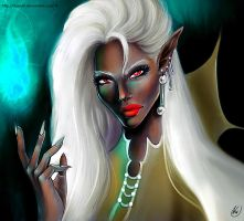 Sorceress drow by Daelyth
