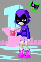 Teen Titans Go! - Raven PJs by Silent-Sid
