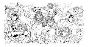 young samurais panoramic inked by gz12wk