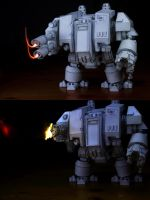 PaperCraft Giant Warhammer Dreadnought by zedarkangel