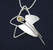 Shooting Star Pendant by GipsonDiamondJeweler
